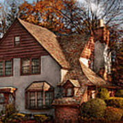 Cottage - Westfield Nj - Family Cottage Art Print by Mike Savad