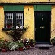 Cottage At Bushmills, Co Antrim, Ireland Art Print