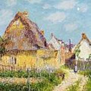 Cottage At Le Vaudreuil Art Print by Gustave Loiseau