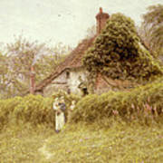 Cottage At Pinner Middlesex Art Print