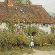 Cottage At West Horsley Surrey Art Print