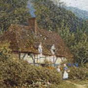 Cottage Near Witley Surrey Art Print