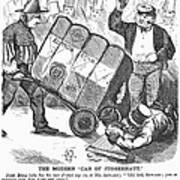 Cotton Loan Cartoon, 1865 Art Print