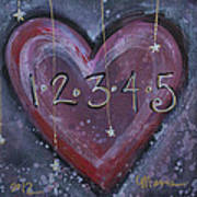 Counting Heart Art Print