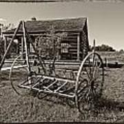 Country Classic Monochrome Art Print