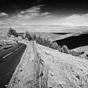 Country Mountain Road Through Glenaan Scenic Route Glenaan County Antrim Northern Ireland  Art Print