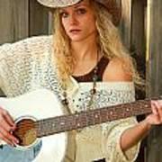 Country Musician Art Print