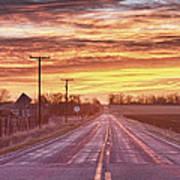 Country Road Sunrise Art Print