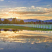 Country Sunset Reflection Art Print