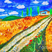 Country Tracks Art Print