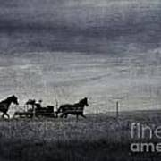 Country Wagon Art Print by Perry Webster