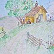 Country Woodshed Art Print by Debbie Portwood