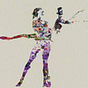 Couple Dancing Art Print by Naxart Studio