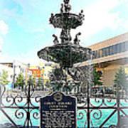 Court Square Fountain Art Print