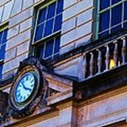 Courthouse Clock Art Print by Beverly Hammond