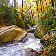 Courthouse River In The Fall 2 Art Print