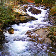 Courthouse River In The Fall Filtered Art Print