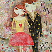 Courting Couple Art Print
