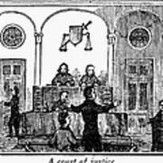 Courtroom, 1842 Art Print