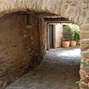 Courtyard In The Village Art Print