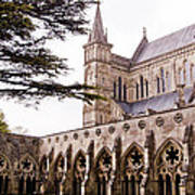 Courtyard Salisbury Cathedral - England Art Print