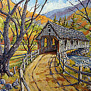 Covered Bridge 04 Art Print