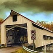 Covered Bridge 2 Art Print