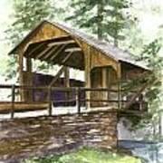 Covered Bridge At Knoebels  Art Print