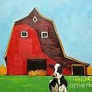 Cow And Barn 4 Art Print