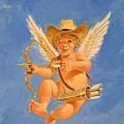 Cow Kid Cupid Art Print