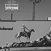 Cowboy Billboard  Art Print