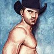 Cowboy Blue Art Print