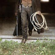 Cowboy With Guns And Rope Art Print