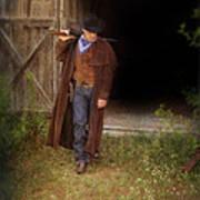 Cowboy With Guns Art Print