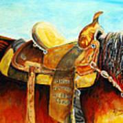 Cowgirl Saddle Art Print