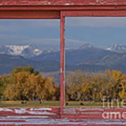 Cows Life Colorado Autumn Rocky Mountains Picture Window Art Art Print