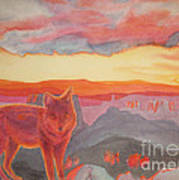 Coyote Cliff Art Print by Vikki Wicks
