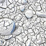 Cracked Earth Art Print