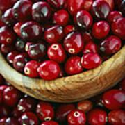 Cranberries In A Bowl Art Print