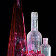 Cranberry And White Bottles Art Print