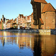 Crane In The Old Town Of Gdansk Art Print