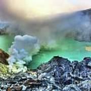 Crater Ijen Art Print