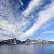 Crater Lake Sky Art Print by Pierre Leclerc Photography