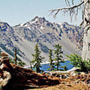 Crater Lake Through Nature Art Print