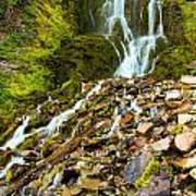 Crater Lake Waterfall Art Print