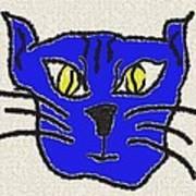 Crazy Cat Art Print by Leeann Stumpf