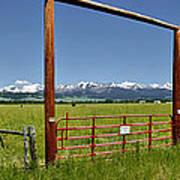 Crazy Mountain Ranch Gate Art Print