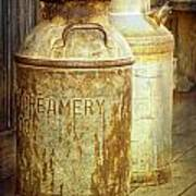 Creamery Cans In 1880 Town No 3098 Art Print