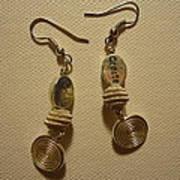 Create In Silver Earrings Art Print by Jenna Green