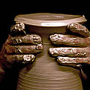 Creation At The Potter's Wheel Art Print by Rob Travis